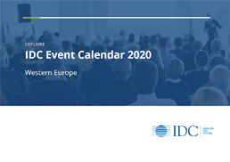 IDC Conferences calendar brochure